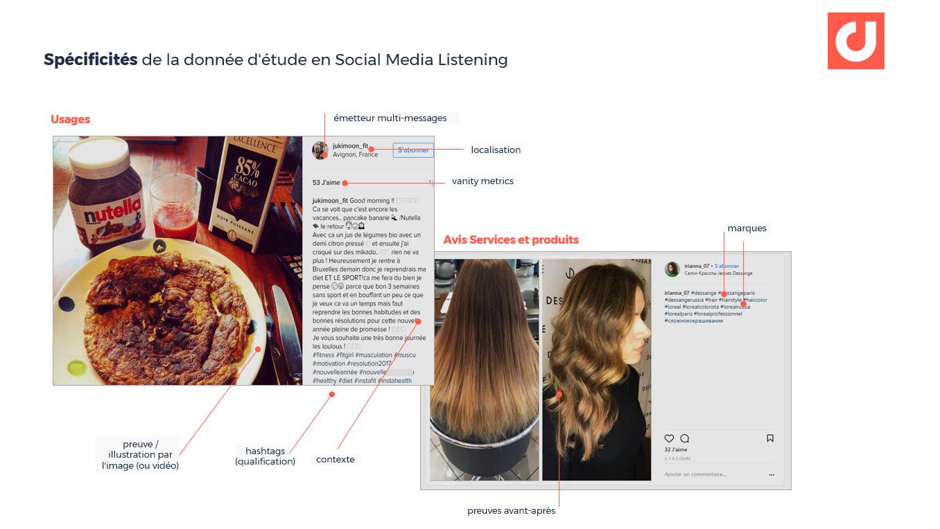 Spécificités de la donnée d'étude en Social Media Listening