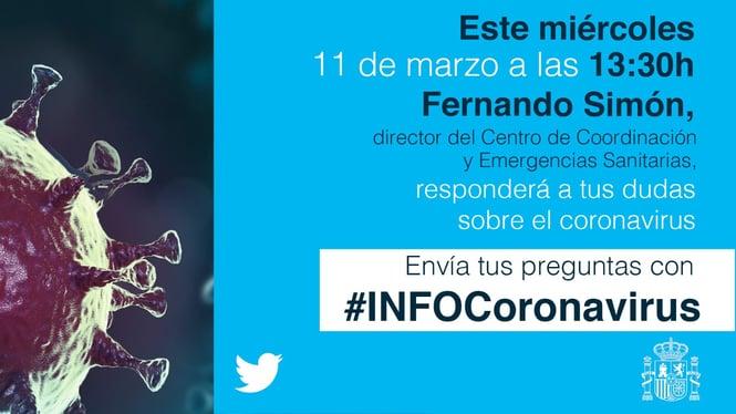 Evento en Twitter dudas Covid-19 Fernando Simon
