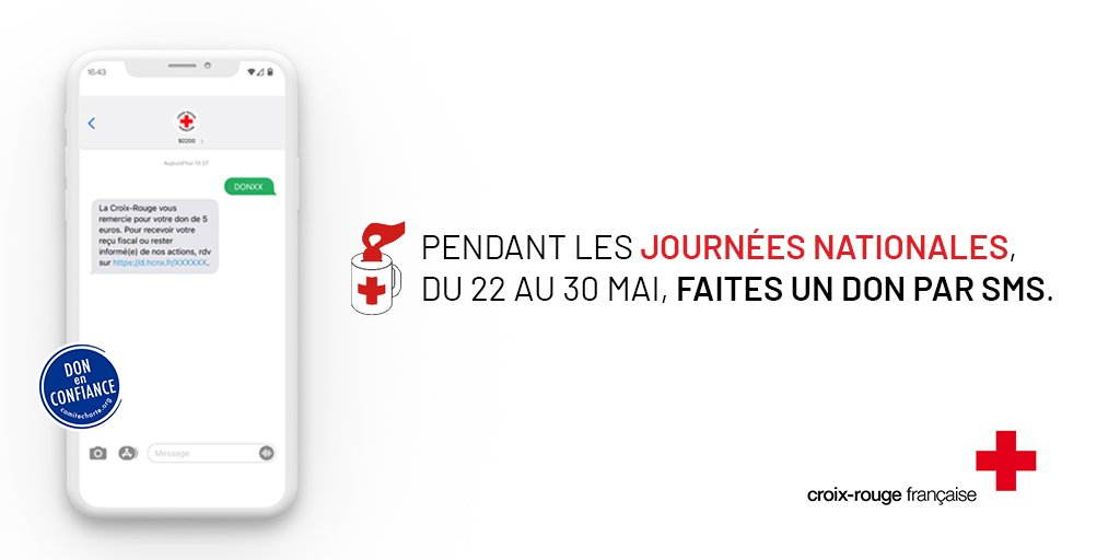 affiche Croix-Rouge promouvant les journées nationales