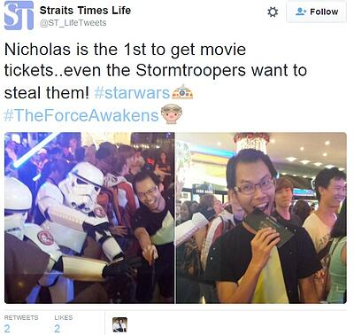 tweet about star wars