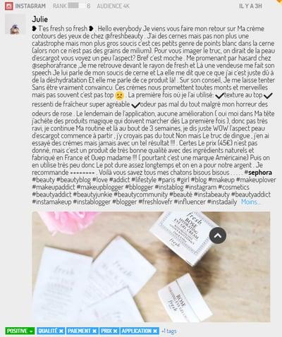 exemple d'Expérience Utilisateur sur Instagram