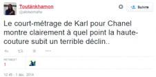 Tweet court metrage Lagerfeld