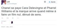 tweet carla delavigne et pharell williams
