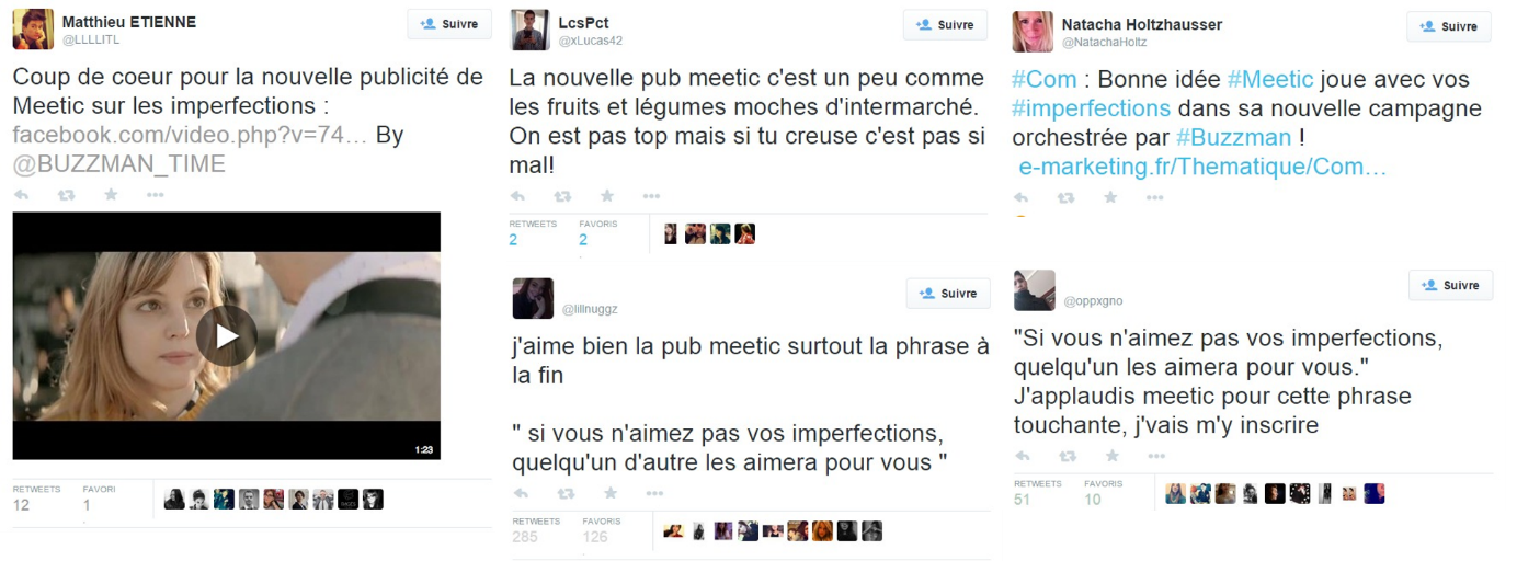 Tweets sur Meetic