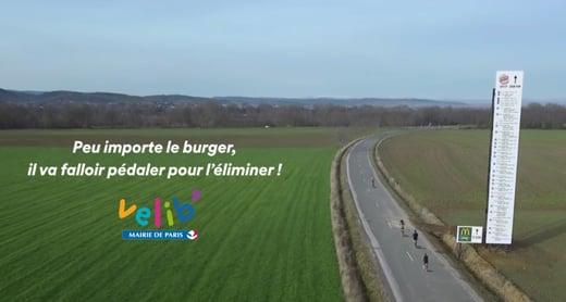 Velib participe à la bataille Mcdo VS Burger King