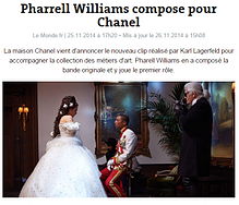 Pharell Williams compose pour Chanel