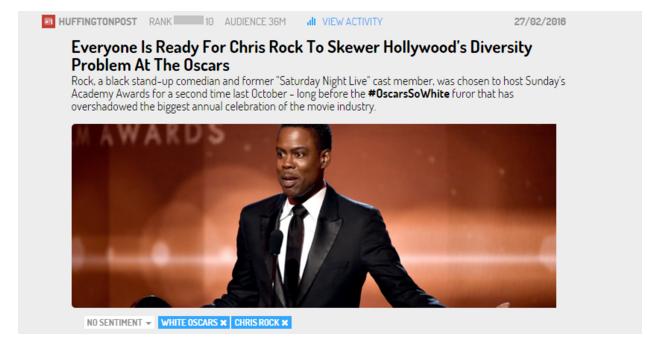 Noticia sobre Chris Rock presentando en los oscares 2016