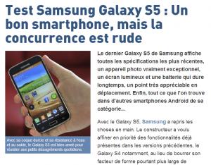 article test Samsung Galaxy 5