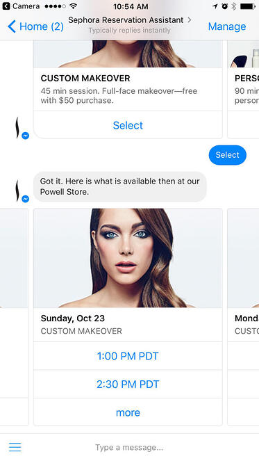 chatbot sephora-inteligencia artificial