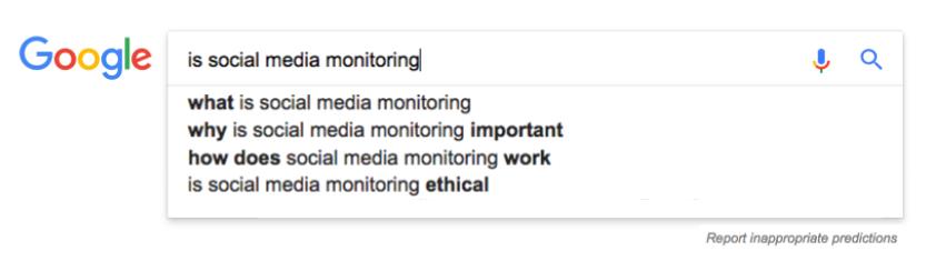 social media monitoring sur Google