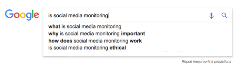 motor de busqueda de google sobre social media monitoring