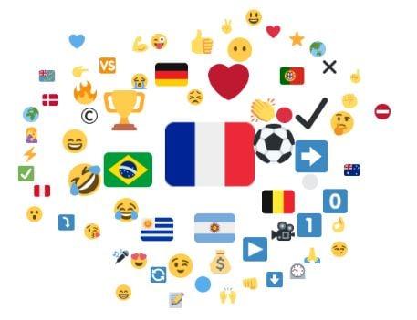 Emojis associés à Kylian Mbappé