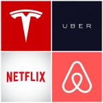 logos netflix, uber, Airbnb