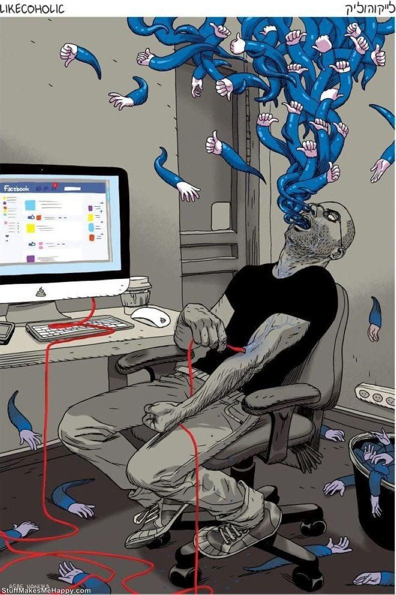 """""""LikeCoholic"""" par Asaf Hanuka"""