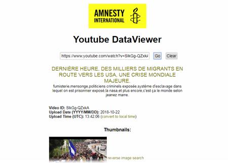 Amnesty International Youtube DataViewer