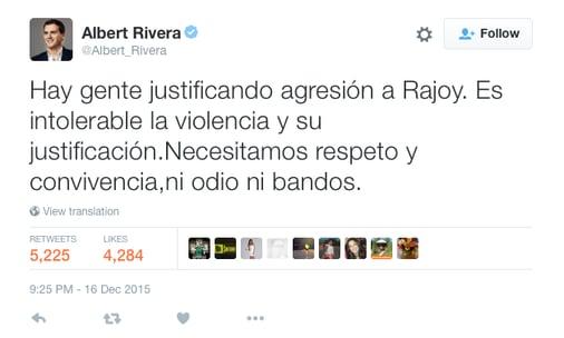 Albert Rivera top publicacion en Twitter