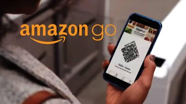 amazon go imagen de publicidad en smartphone