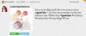 Instagram post sur Guerlain
