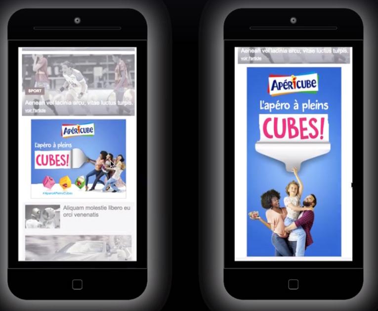 La campagne Apericube sur mobile