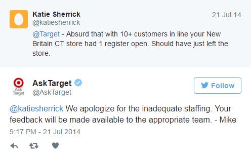 Ask target - customer complaint