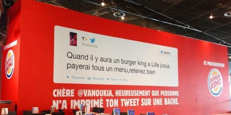 Burger King strategie reseaux sociaux