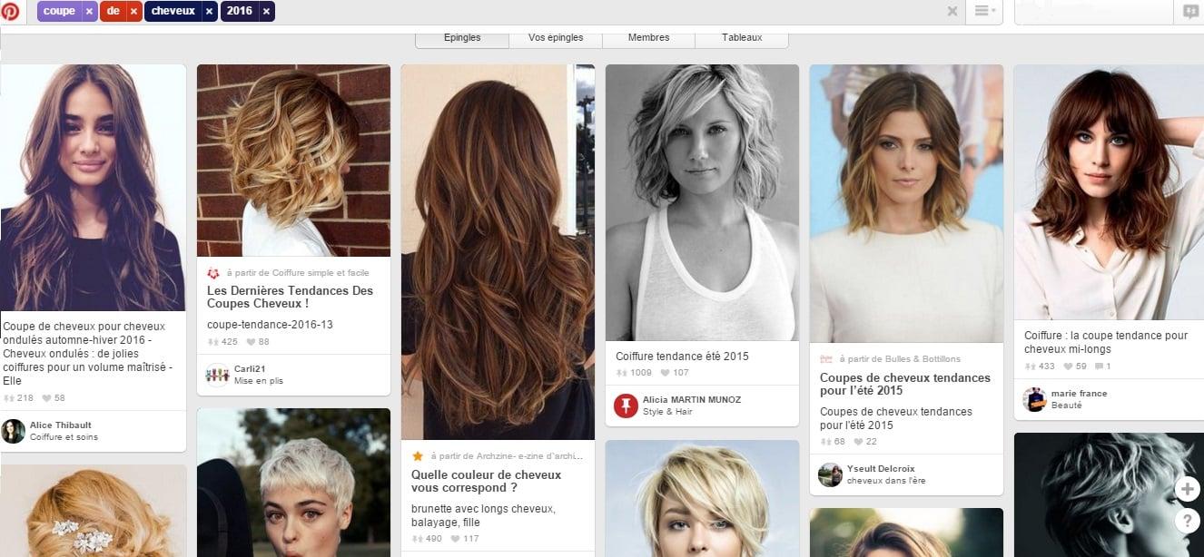 Cheveux femme sur Pinterest