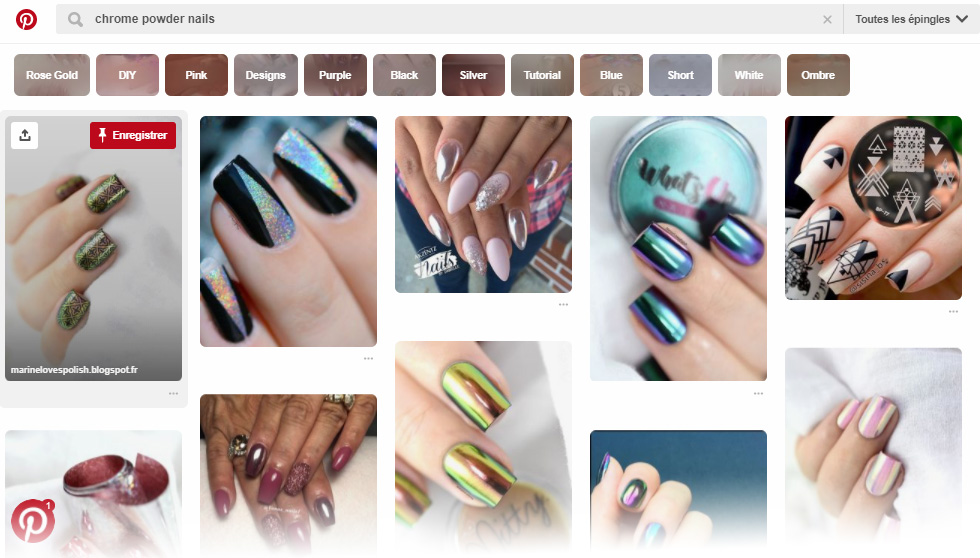 "Le ""chrome powder nails"" ou vernis chrome effet miroir, sur Pinterest"