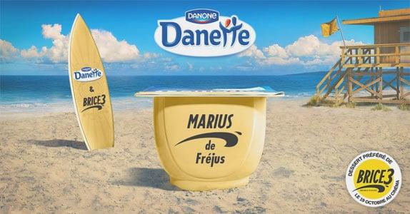 Co-branding Danette et Brice de Nice sur  Snapchat