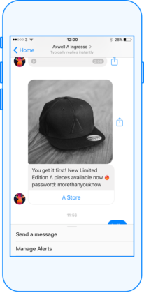 Exemple de message commercial pour une vente de casquette