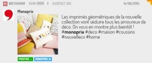 Post Instagram décoration Monoprix
