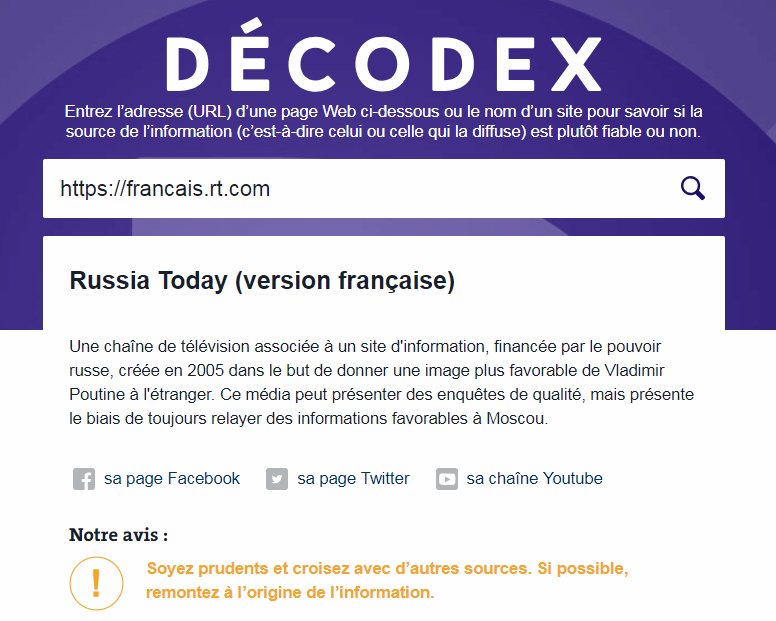 Le Decodex, réalisé par les Décodeurs (Le Monde), un des outils pour faciliter le décryptage des fake news
