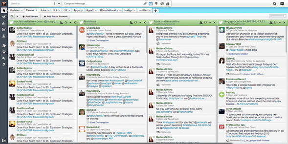 a screenshot of hootsuite