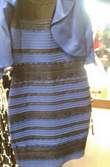 Photo of the controversial dress that is either black and blue or gold and white