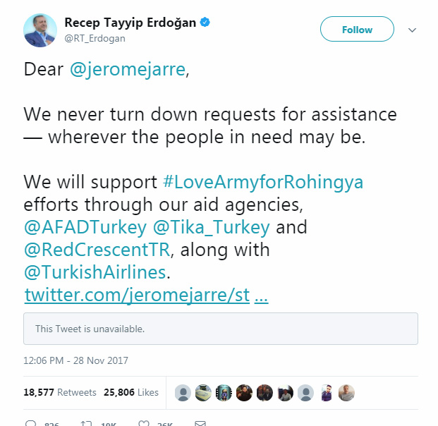 Tweet Erdogan