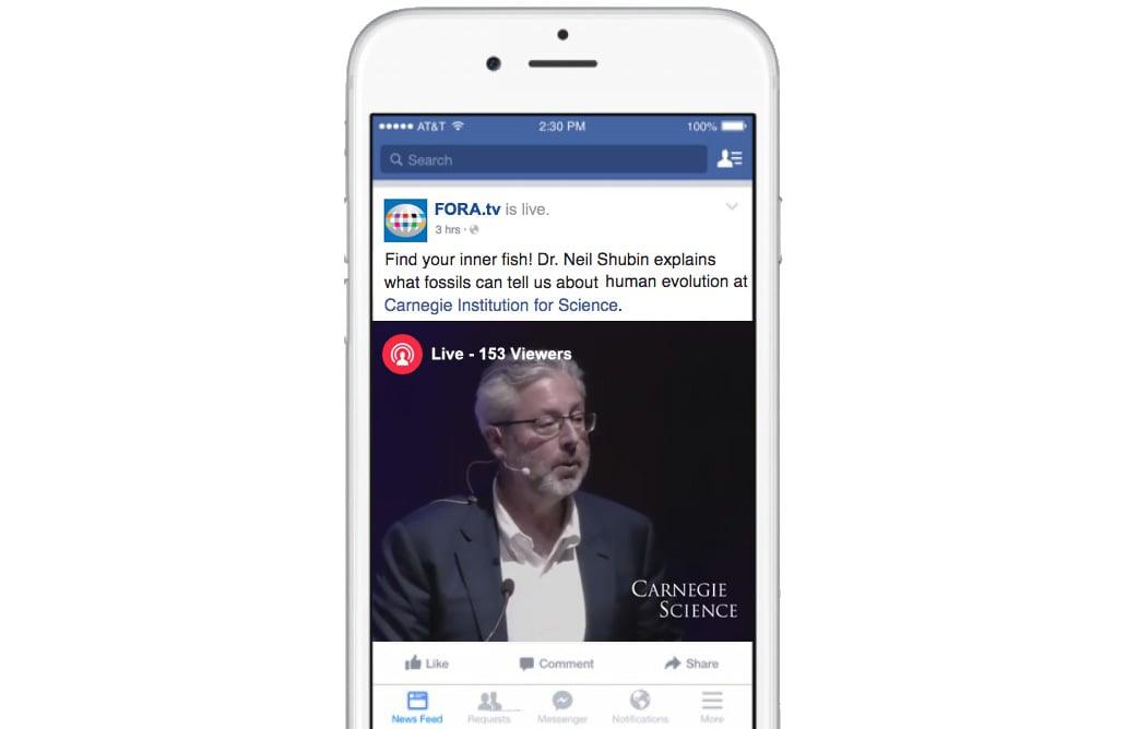 Une diffusion Facebook Live pour une conférence