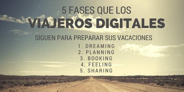 fases de ciclo de viaje de los viajeros digitales