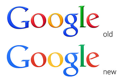 Vieux logo Google VS nouveau logo Google en 2013