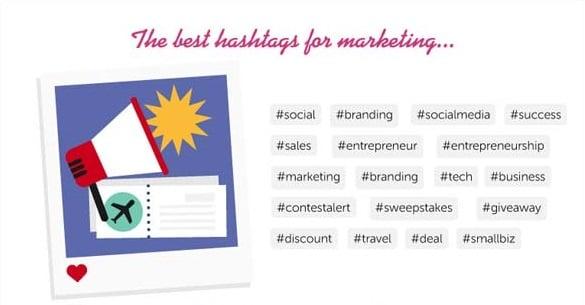 hashtags más usado en Instagram para marketing