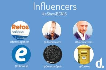 influencers presentes en el eshow barcelona