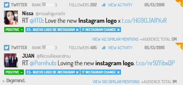 Les réactions positives suite au nouveau logo instagram