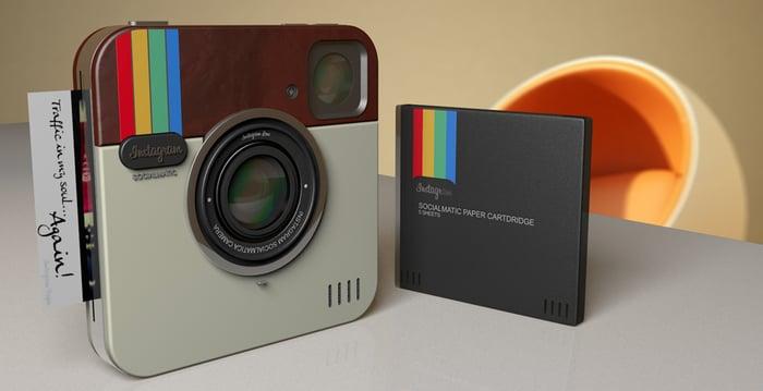 Un appareil photo IRL aux couleurs et design d'Instagram
