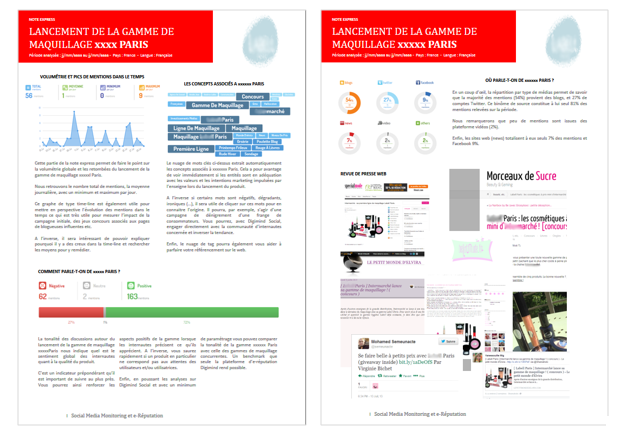 Extrait de rapport de suivi de lancement d'une campagne produit
