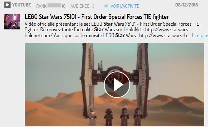 Lego, une des plus grosses licences Star Wars