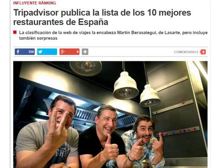 Top 10 restaurantes en España Tripadvisor