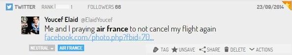 tweet grève Airfrance