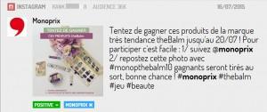 Instagram prisé par Monoprix