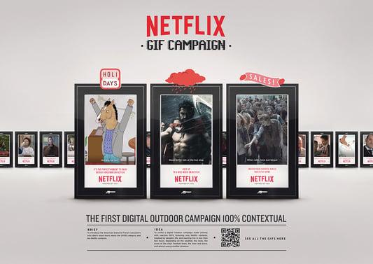 Netflix nueva campaña con GIFs