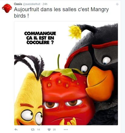 La stratégie digitale d'Oasis suite au buzz Angry Birds