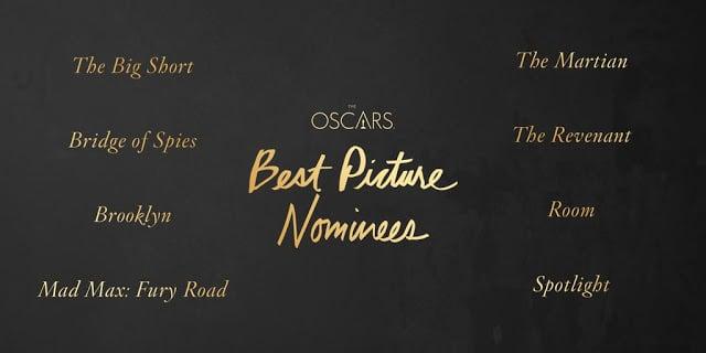 Oscars2016 nominados a mejor película