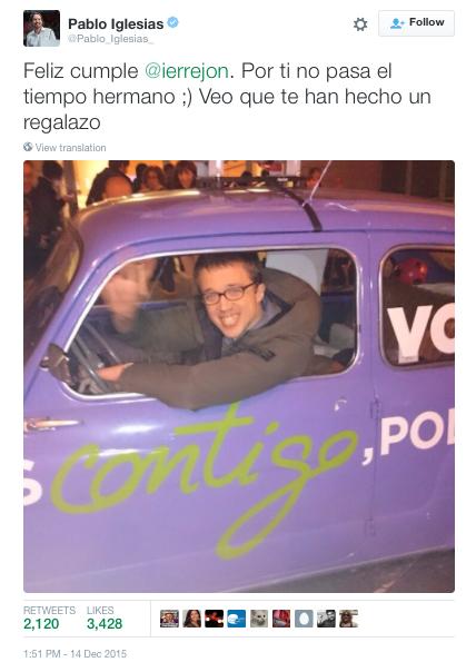 Pablo Iglesias top publicacion Twitter